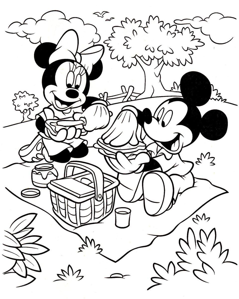Beau De Coloriage A Imprimer Minnie Stock   Dessin Photos