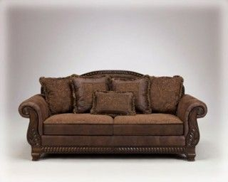 Bradington Truffle Sofa By Ashley Furniture Barnettandswann