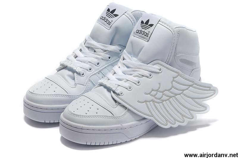 New Adidas X Jeremy Scott Wings Shoes All White Basketball Shoes ...
