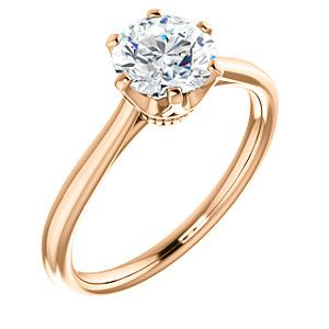 6-Prong Crown Solitaire Engagement Ring in Rose ANNA | 122004