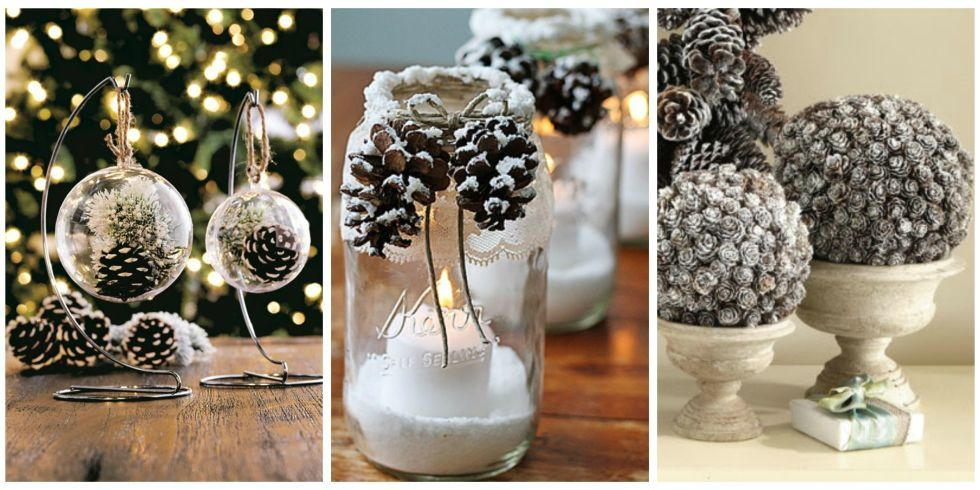 Awesome Pine Cone Christmas Crafts Ideas Part - 13: 21 Holiday Pine Cone Crafts - Ideas For Pinecone Christmas Decorations