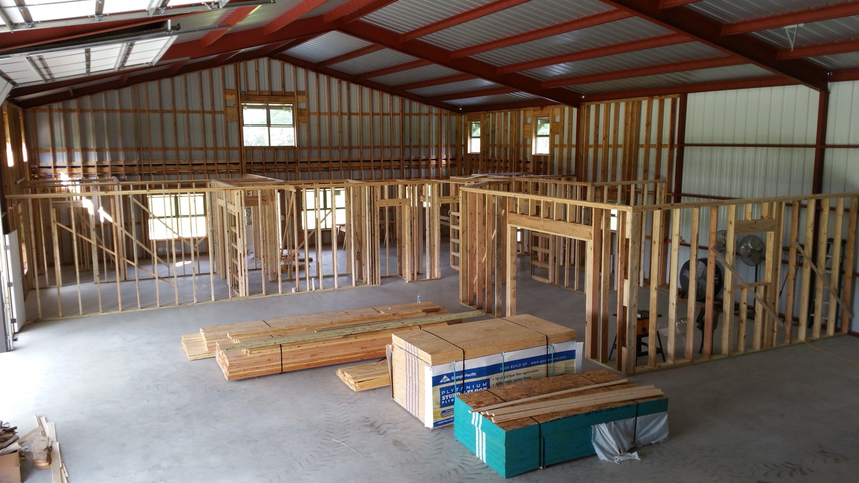 Framing the first floor   Metal building homes, Metal ...