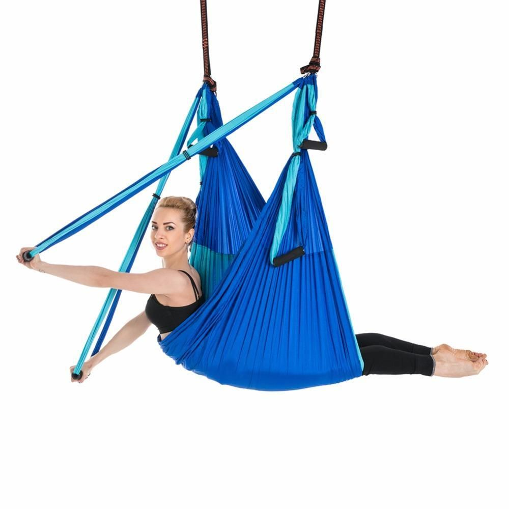 Buy aerial yoga swing flying hammock antigravity hand grip hanging
