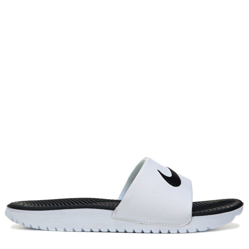 classic fit b44e0 f1db3 Nike Kids Kawa Slide Sandal PreGrade School Sandals (WhiteBlack) - 12.0 M