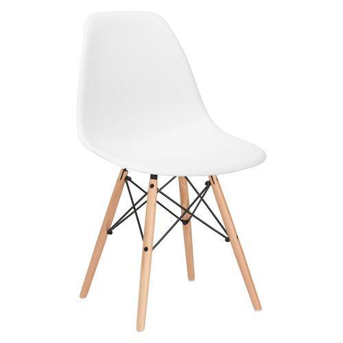Emfurn DAW Style Natural Dining Chair White, EMFURN - 2