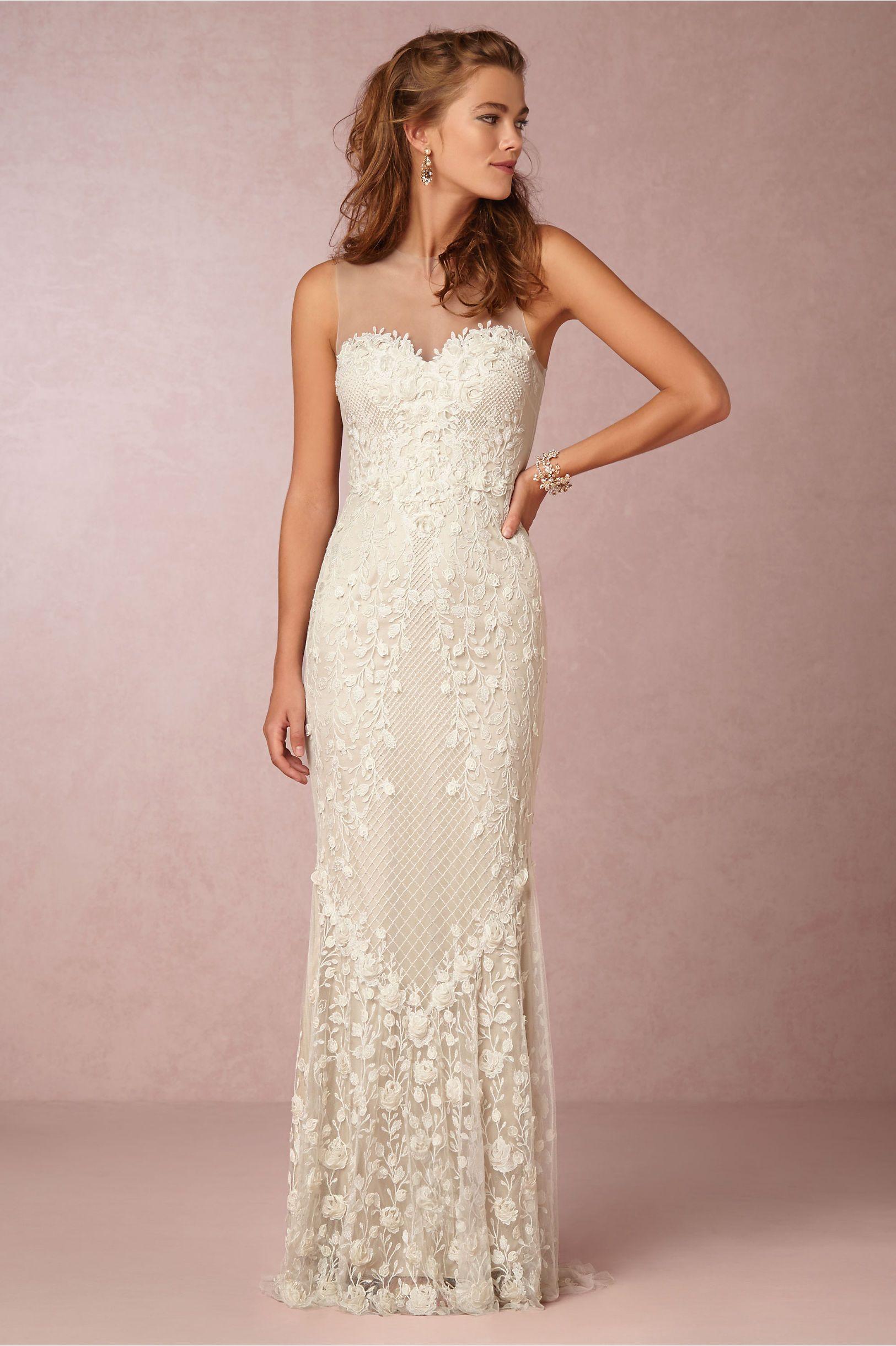 Silhouette wedding dresses simple bridal  Ashton Gown in Bride Wedding Dresses at BHLDN  Wedding  Pinterest
