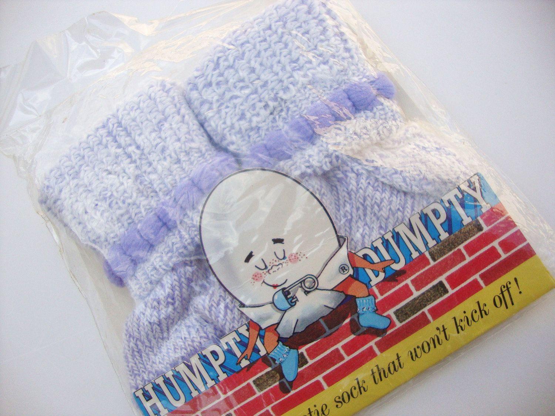 Vintage Humpty Dumpty baby booties.