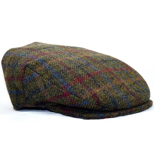 Men/'s Irish Tweed Touring cap Black Blue Hanna hat hand made in Donegal Ireland