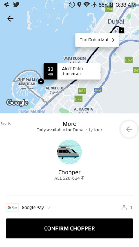 You Can Uber A Helicopter In Dubai