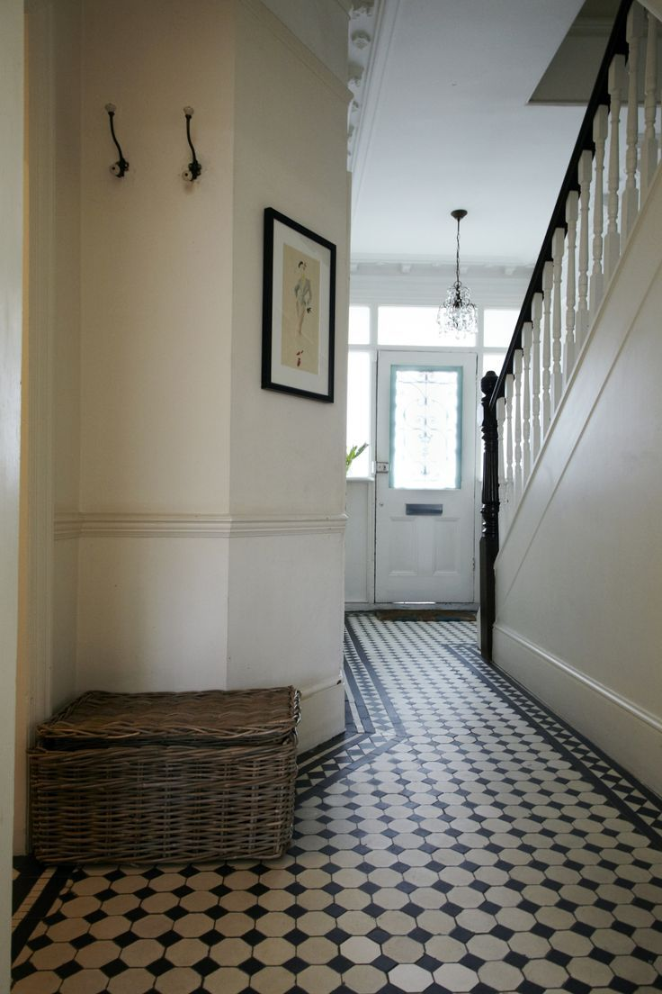 Black and white foyer tile edwardian house foyer with original black and white foyer tile edwardian house foyer with original black and white tiled floors dailygadgetfo Image collections