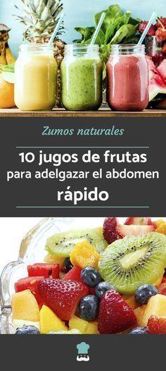 10 jugos de frutas para adelgazar el abdomen rápido