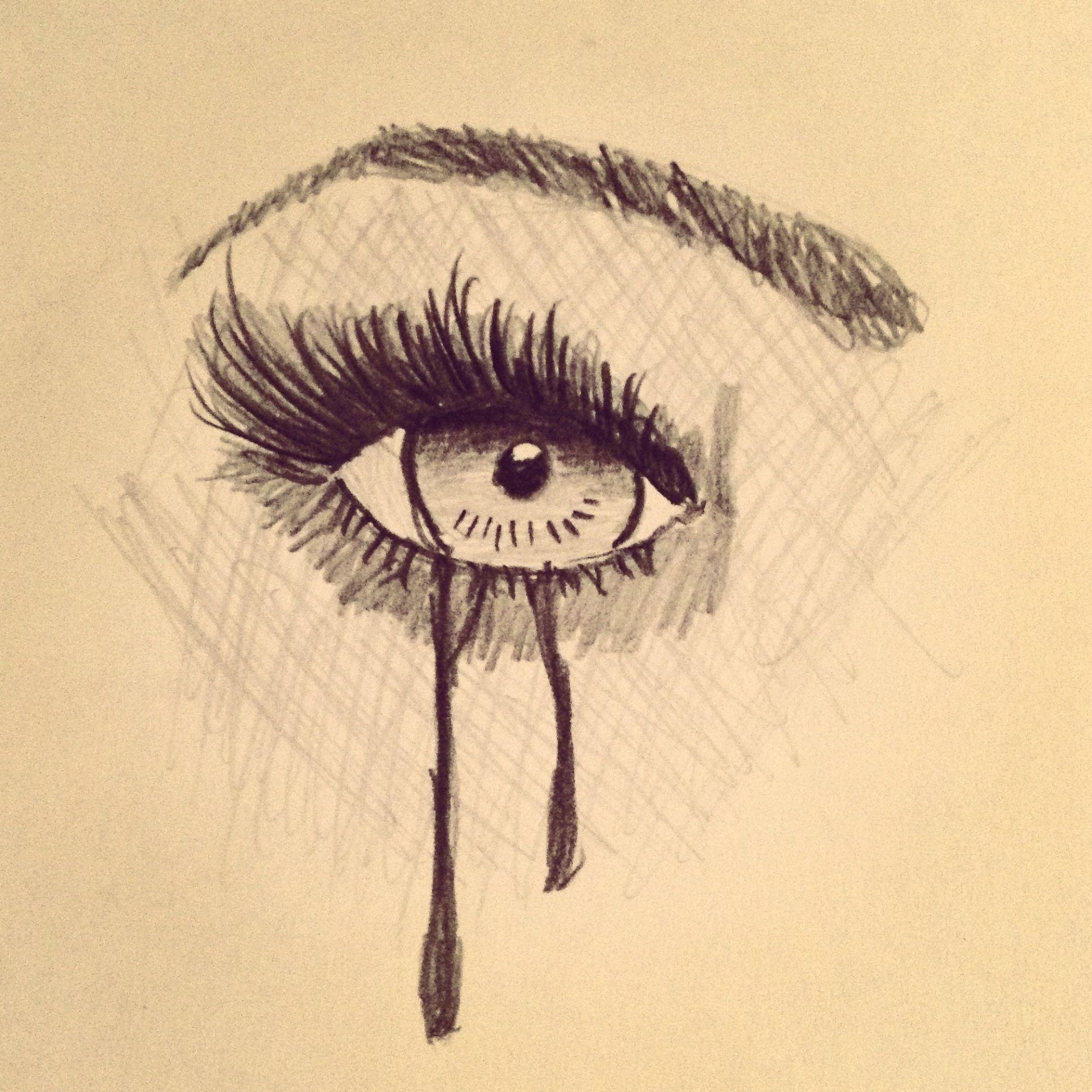 Crying eye drawing by Maul McCartney (c) | Art I drew ...