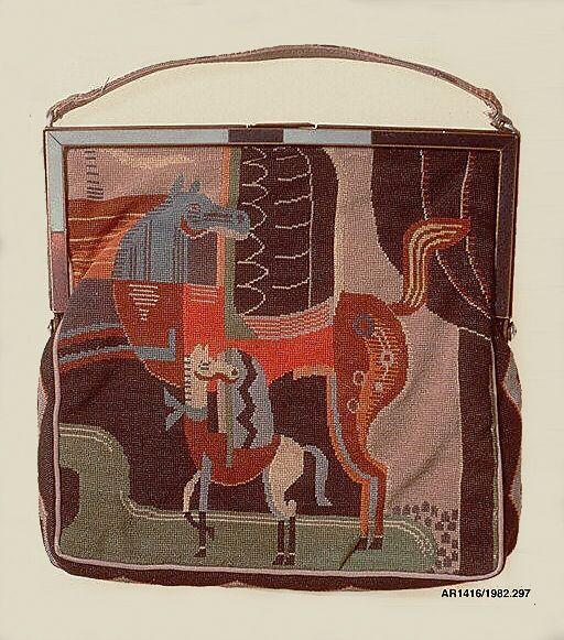 Needlework handbag, c.1925