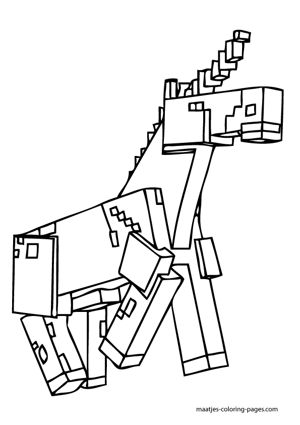 Girl Minecraft Coloring Pages Unicorn Coloring Pages Minecraft Coloring Pages Coloring Pages