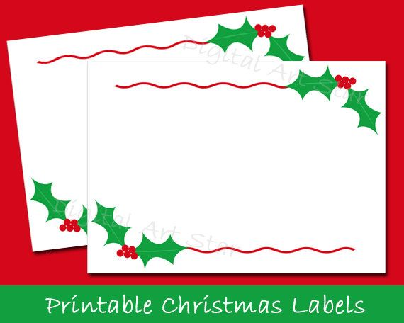Printable Christmas Labels Tent Cards Holiday Place Cards Etsy Christmas Printable Labels Christmas Card Labels Free Christmas Printables