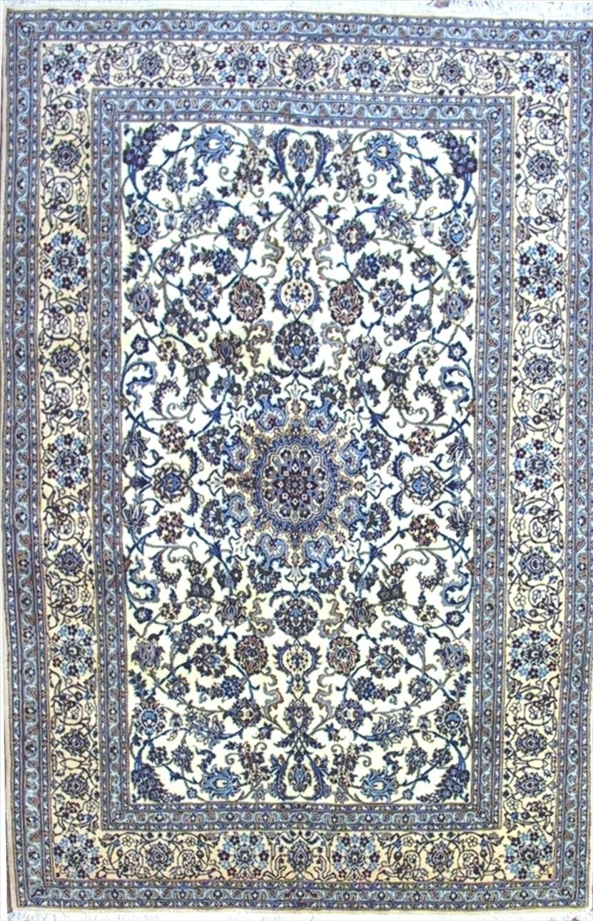 Beautiful Persian Silk Rug In Blue Living Room Decor