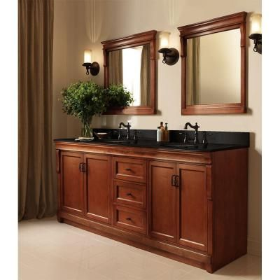 Good Foremost Naples 60 In. W Bath Vanity Cabinet Only In Warm Cinnamon For  Double Bowl