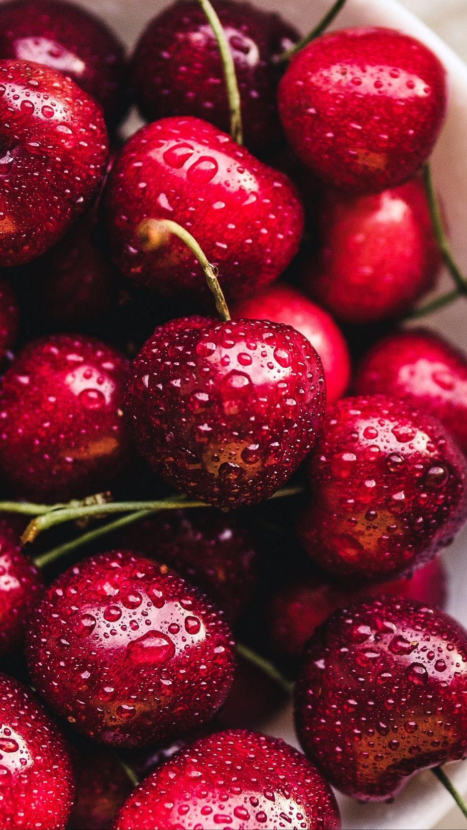 Cherries Cherry Berries Drops Ripe Wallpaper Background Fruit Wallpaper Fruit Photography Fruits Images Hd wallpaper red fruit cherries berries