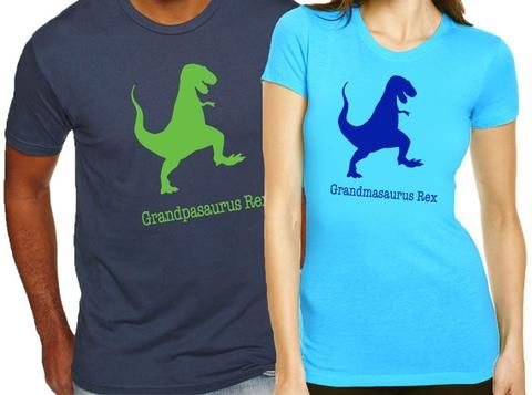 634090d9 Pregnancy announcement gifts. Matching grandparents shirts. Gift for  grandparents. Grandparents-to-be gifts. Grandpasaurus and Grandmasaurus Rex  ...
