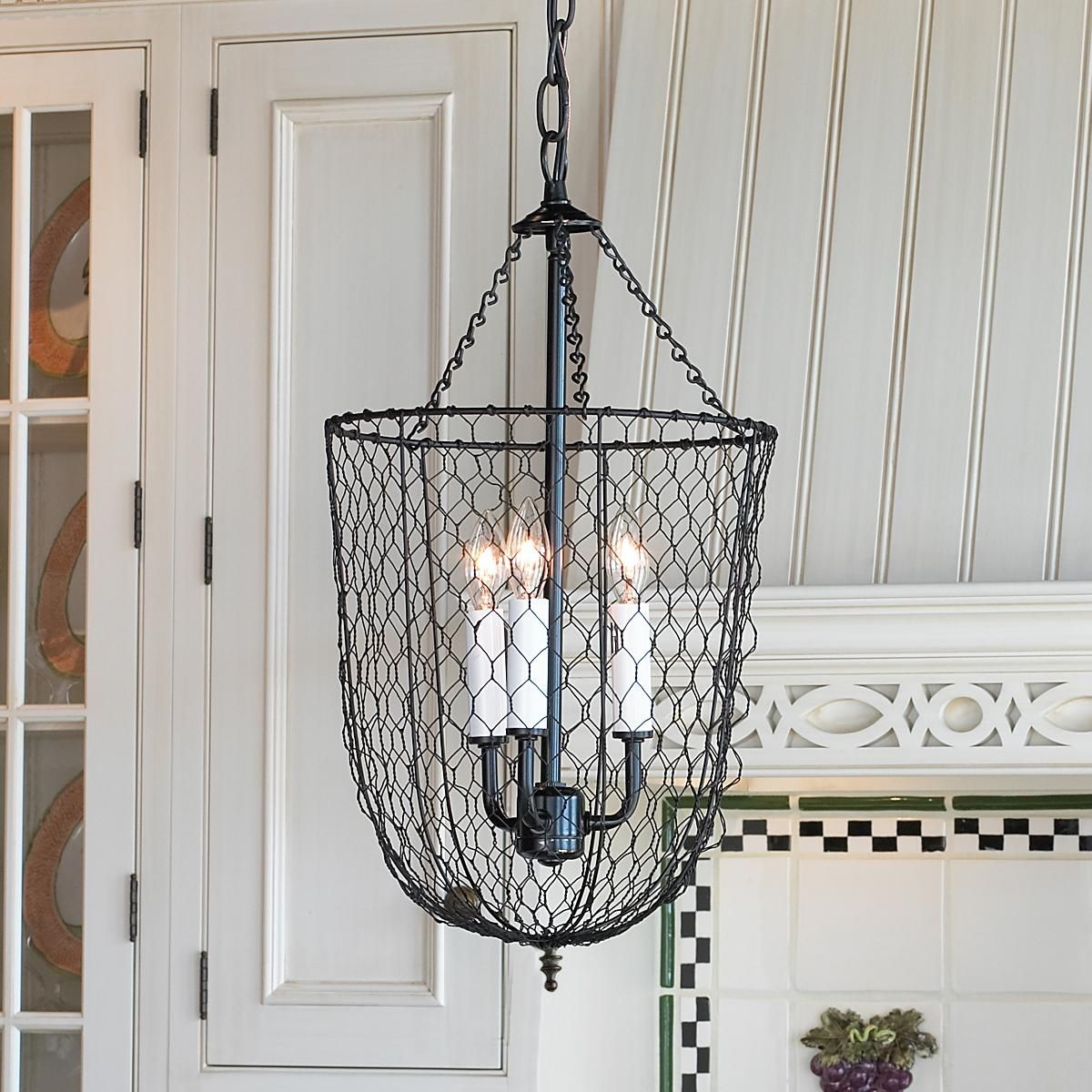 Chicken Wire Smokebell Lantern | Chicken wire