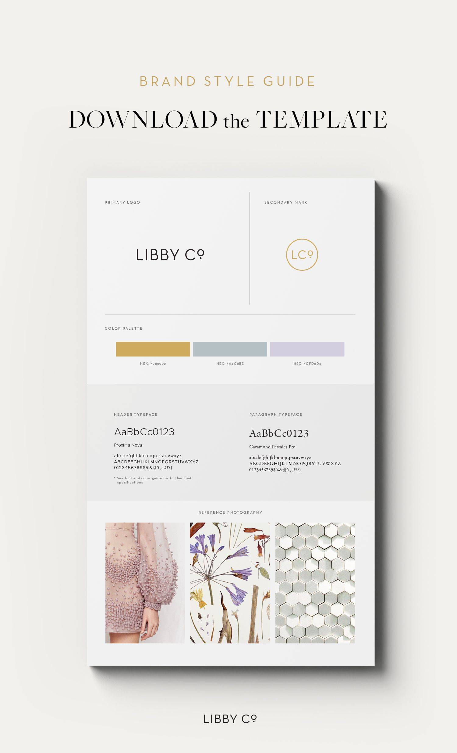 Free Brand Style Guide Template Design Pinterest Brand Style