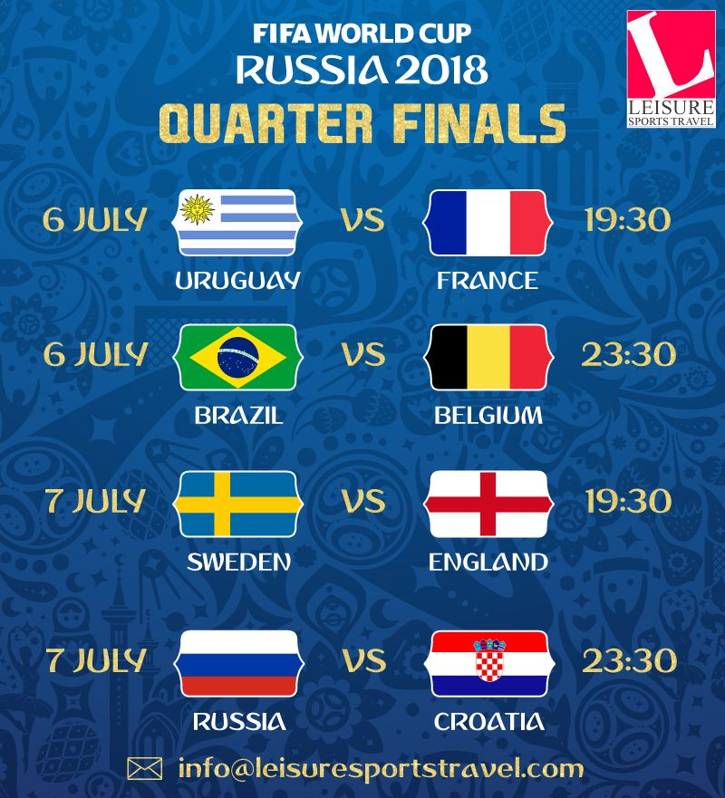8 Teams 4 Matches Race To Semi Finals Starts Today If You Have Still Not Book Your Tickets For Fifa World Cup Book Now For Semi Finals And Finals Futbol