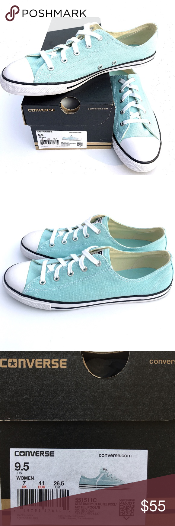 e8bf1938d1f Sneakers Fashion · Converse Chuck Taylor All Star · NWB Converse Dainty  MOTEL POOL Chuck Taylor AS NWB - NEW WITH BOX women s Converse Chuck