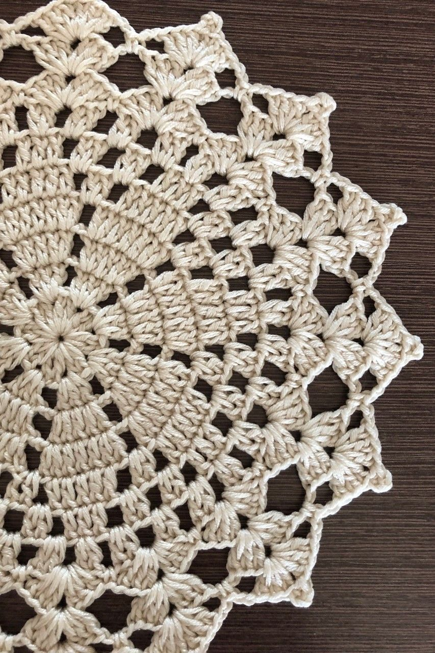 Crochet cotton doily, table decoration
