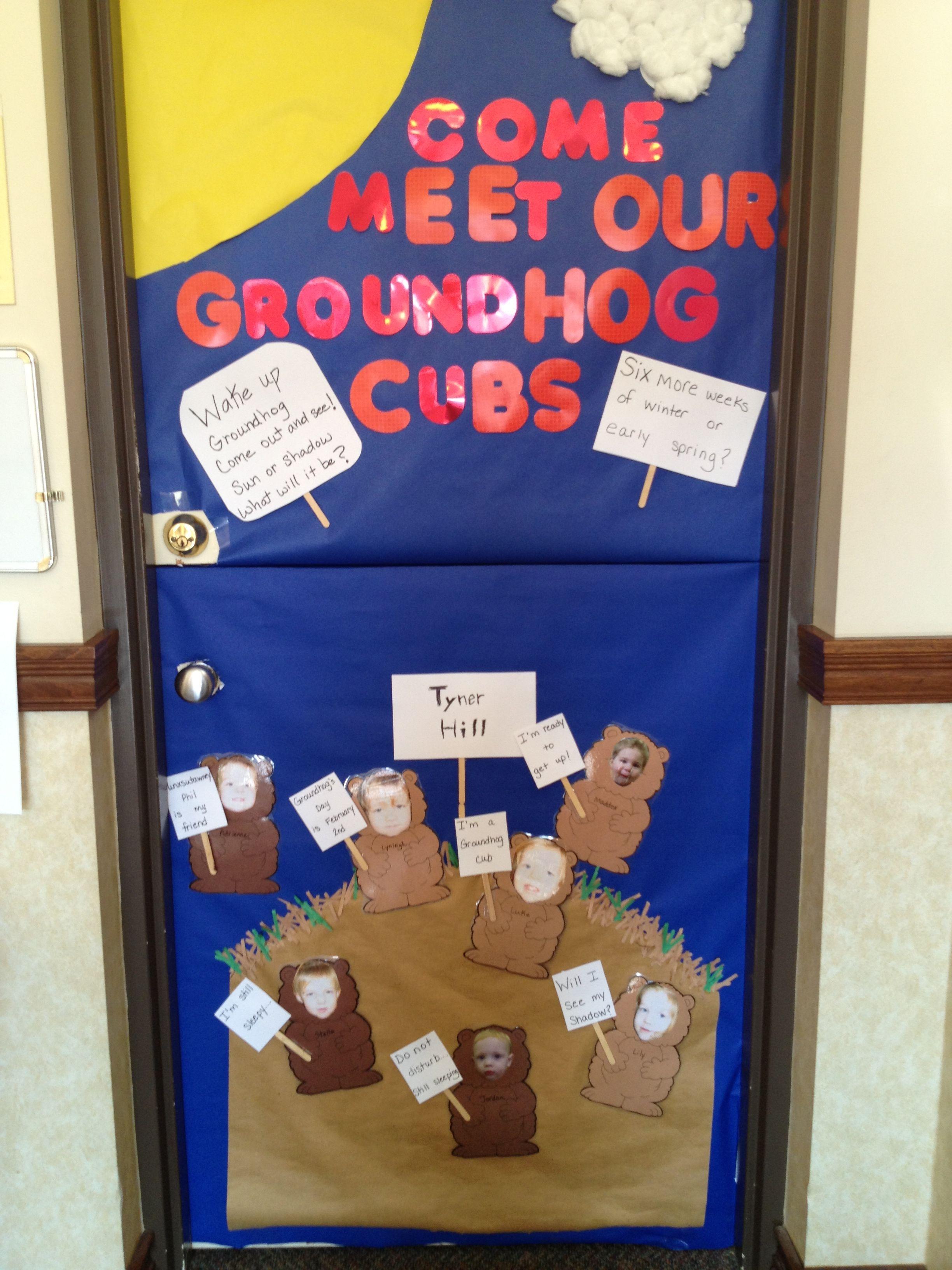 Groundhog S Day Classroom Door