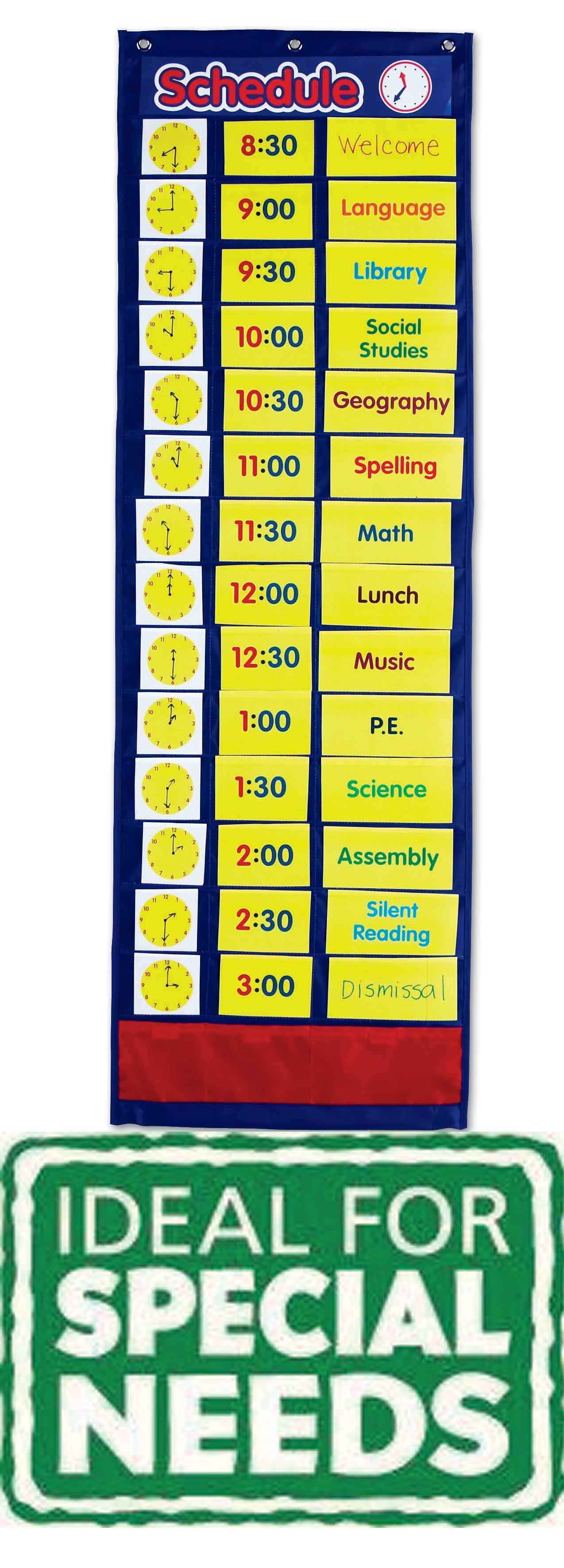 Daily schedule pocket chart pinterest chart students and autism