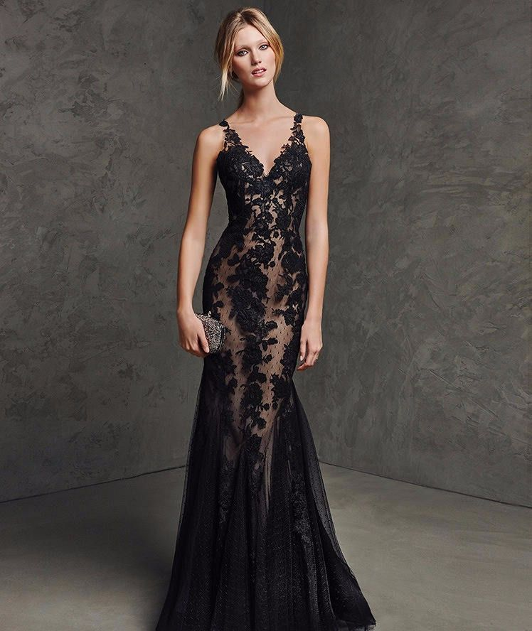 Black Lace Sexy See Through Illusion Wedding Dress | Black laces ...