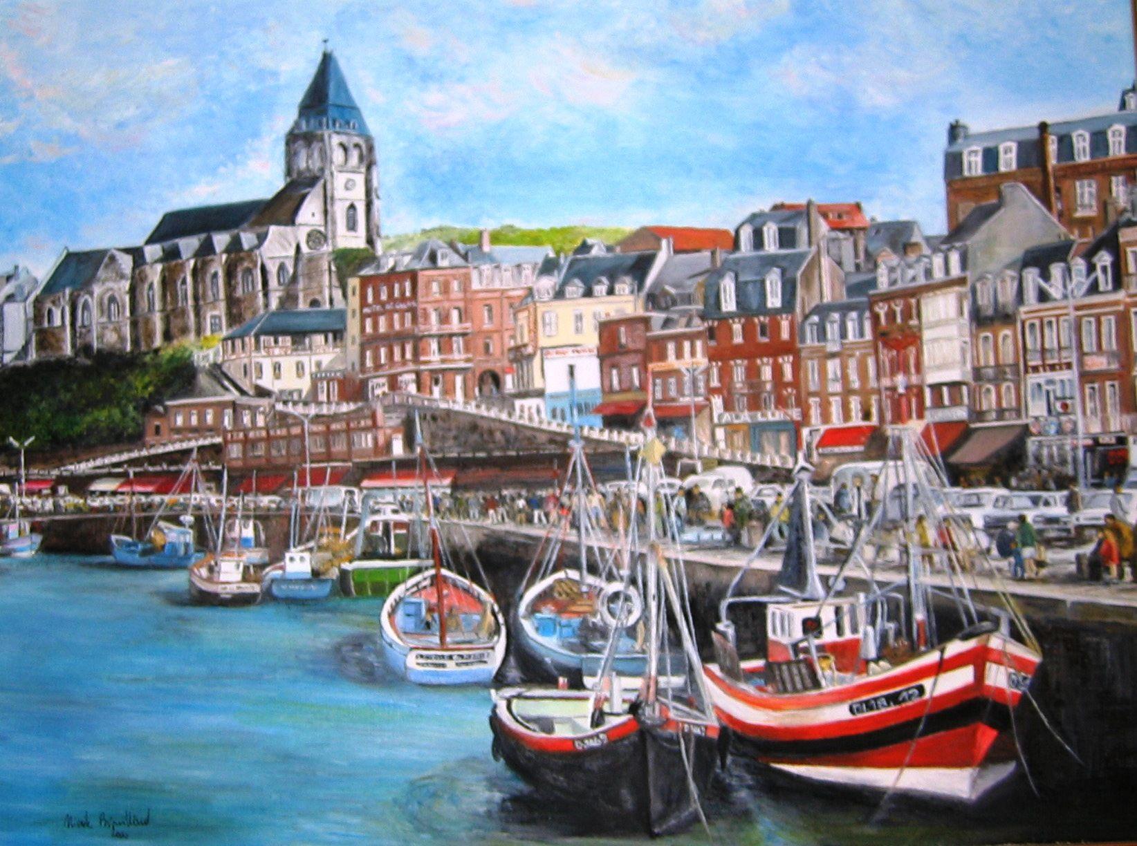 Le tr port huile sur toile mes peintures pinterest france - Office du tourisme du treport ...
