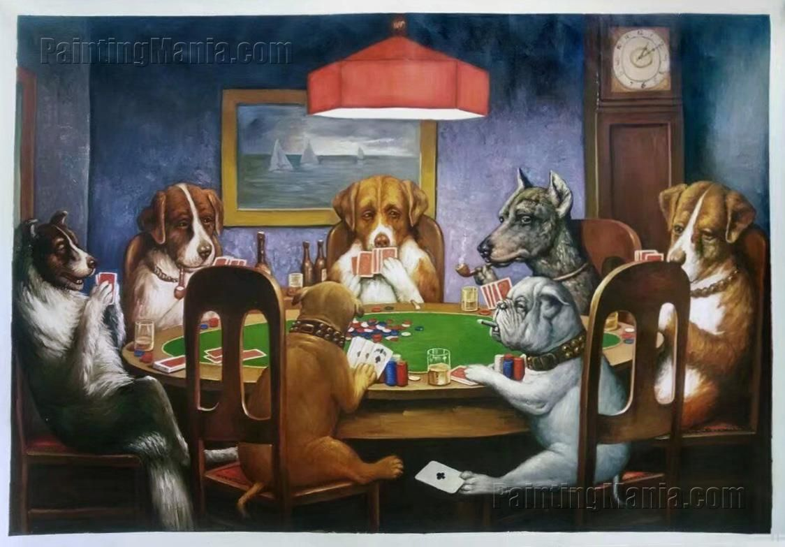 A Friend In Need Cassius Marcellus Coolidge Paintings Dogs Playing Poker Dog Art Most Famous Paintings