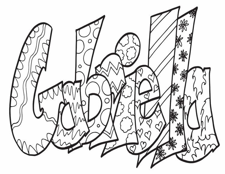 Gabriella Free Coloring Page Stevie Doodles Free Coloring Pages Name Coloring Pages Coloring Pages