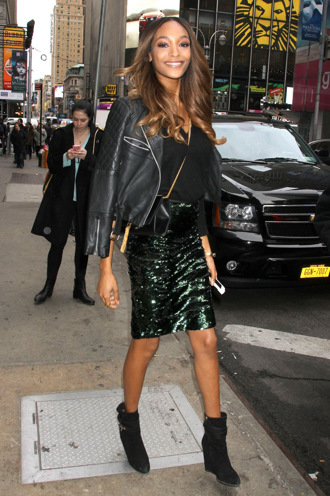 Epic Outfits Inspired By Celebs  refinery29  Jourdan Dunn wearing Calvin  Klein Moto Jacket bf9bd69c2