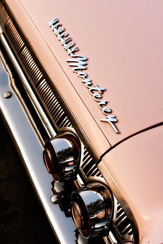 Items similar to Pink Mercury Monterey Classic Car – Car Art for Her – Chrome Details – Mad M…