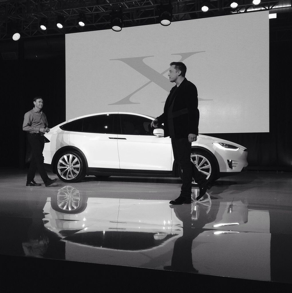 Receiving my Tesla Model X (VIN 2) from Elon Musk at the