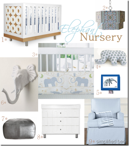 Elephant Love The Majestic Animal Inspires This Baby Nursery In A Palette Of Soft Blues