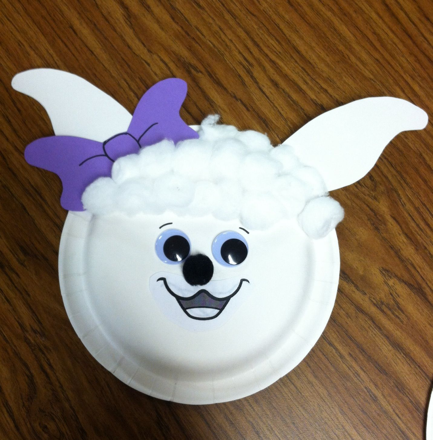Luvie lamb paper plate craft awana cubbies pinterest paper luvie lamb paper plate craft jeuxipadfo Images