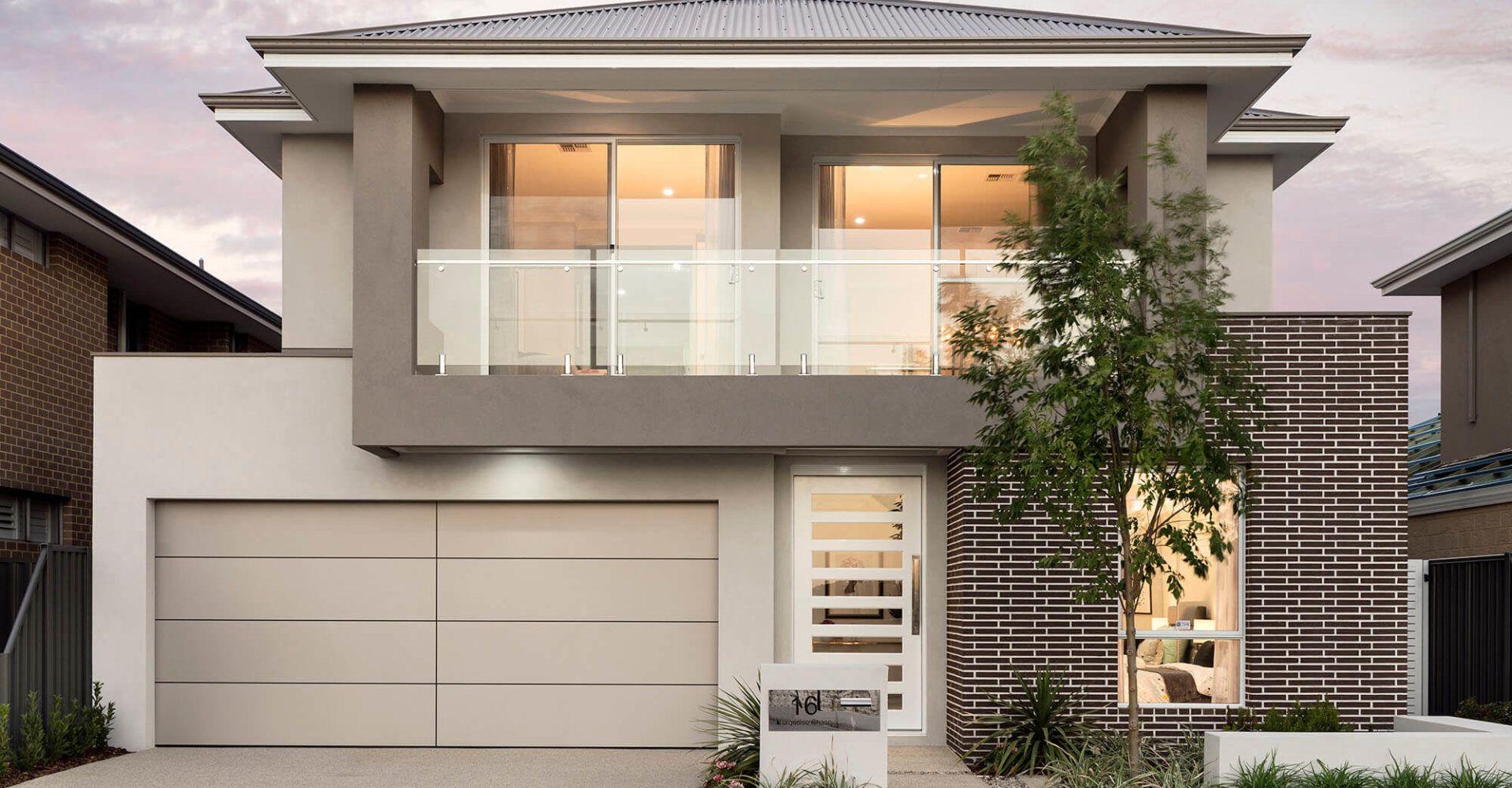 Ben Trager Homes Two Storey Homes Perth 2 Storey House Design Ben Trager Fachada De Casa Arquitectura
