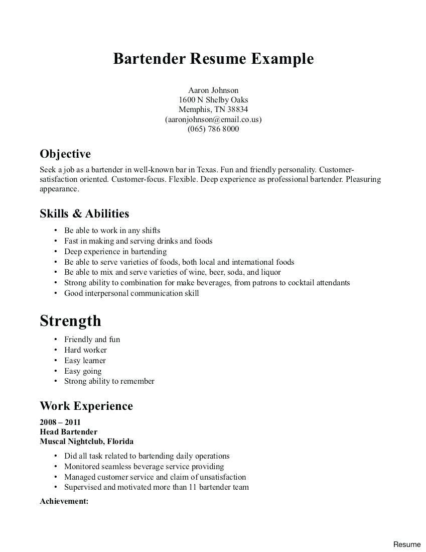Banquet server resume example in 2020 professional