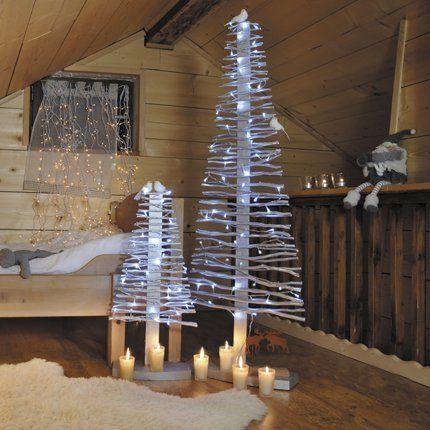 Sapin en bois dor blachere arbres de no l jardins et - Fabriquer sapin de noel en bois ...