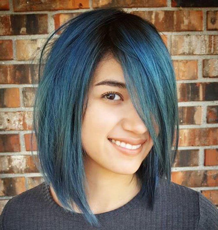 Layered-Blau-Bob | Hairstyles, Make Up and Nails | Pinterest ...