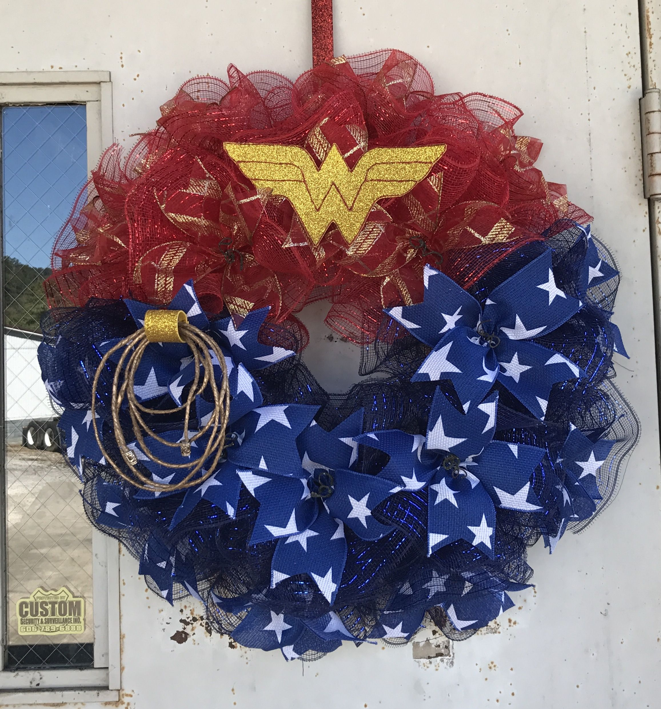Wonder Woman Mesh Wreath Wreaths Diy For Girls
