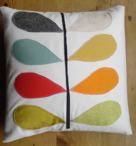 Love the idea of appliqueing cushions...