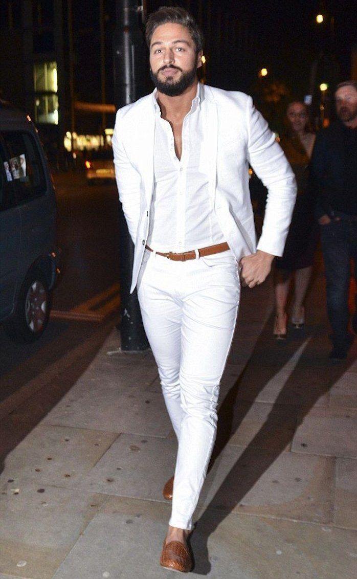 tenue-blanche-homme-soirée-pantalon