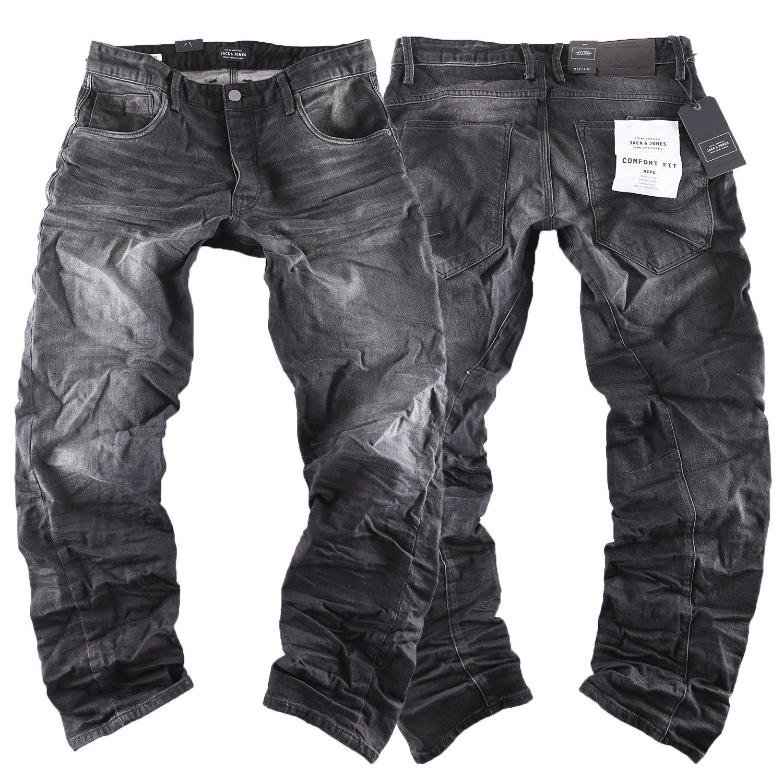 e2b71226545a  JACK   JONES Mike Iron comfort fit Herren Jeans Hose schwarz black neu 314  new