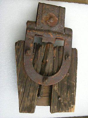 Vintage 1906 Antique Barn Door Hardware Roller Barn Wood Primitive
