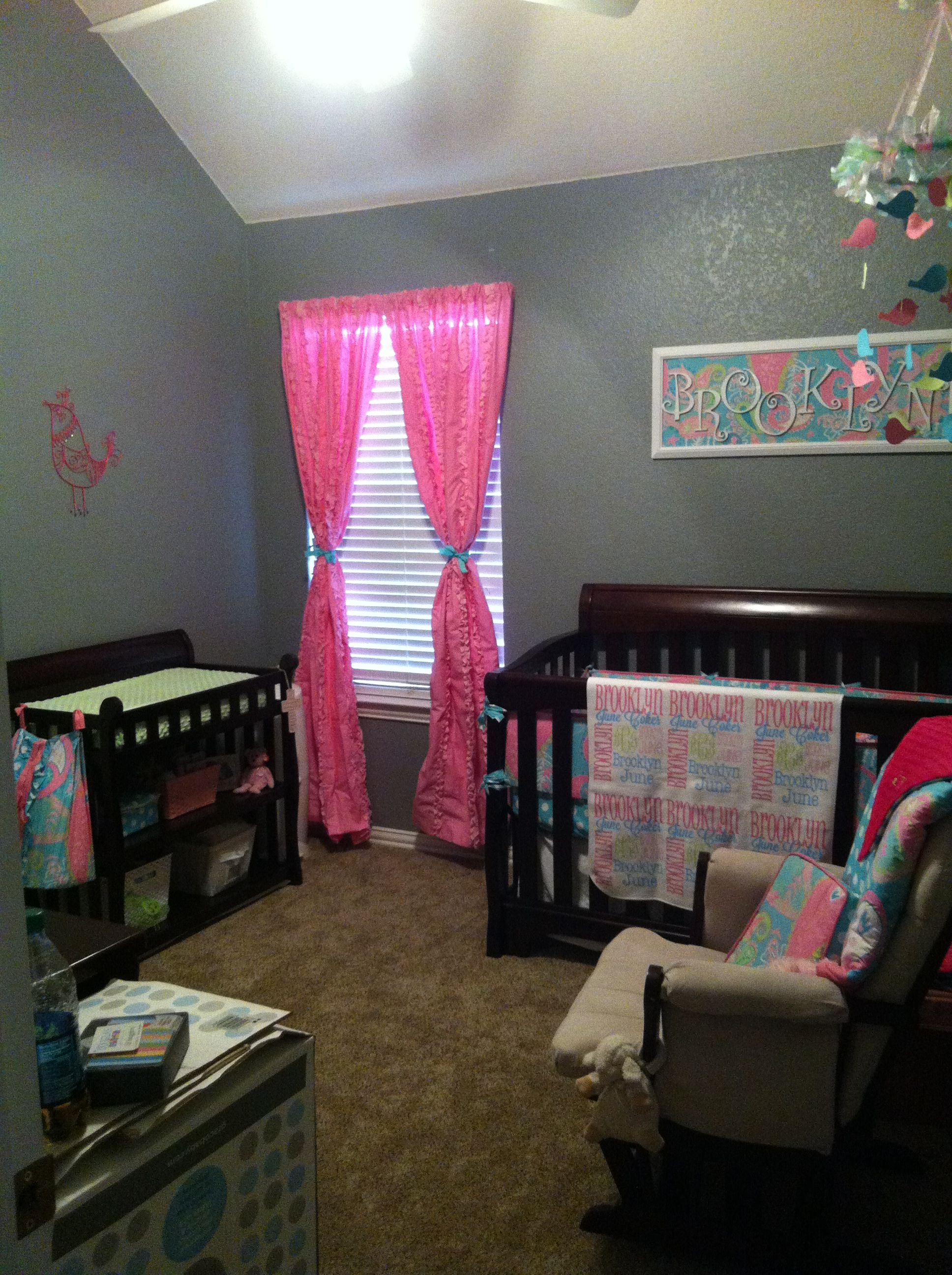 My Baby Girl S Nursery: Aqua Pixie Nursery My Baby Sam Aqua Pink Lime Girl Nursery