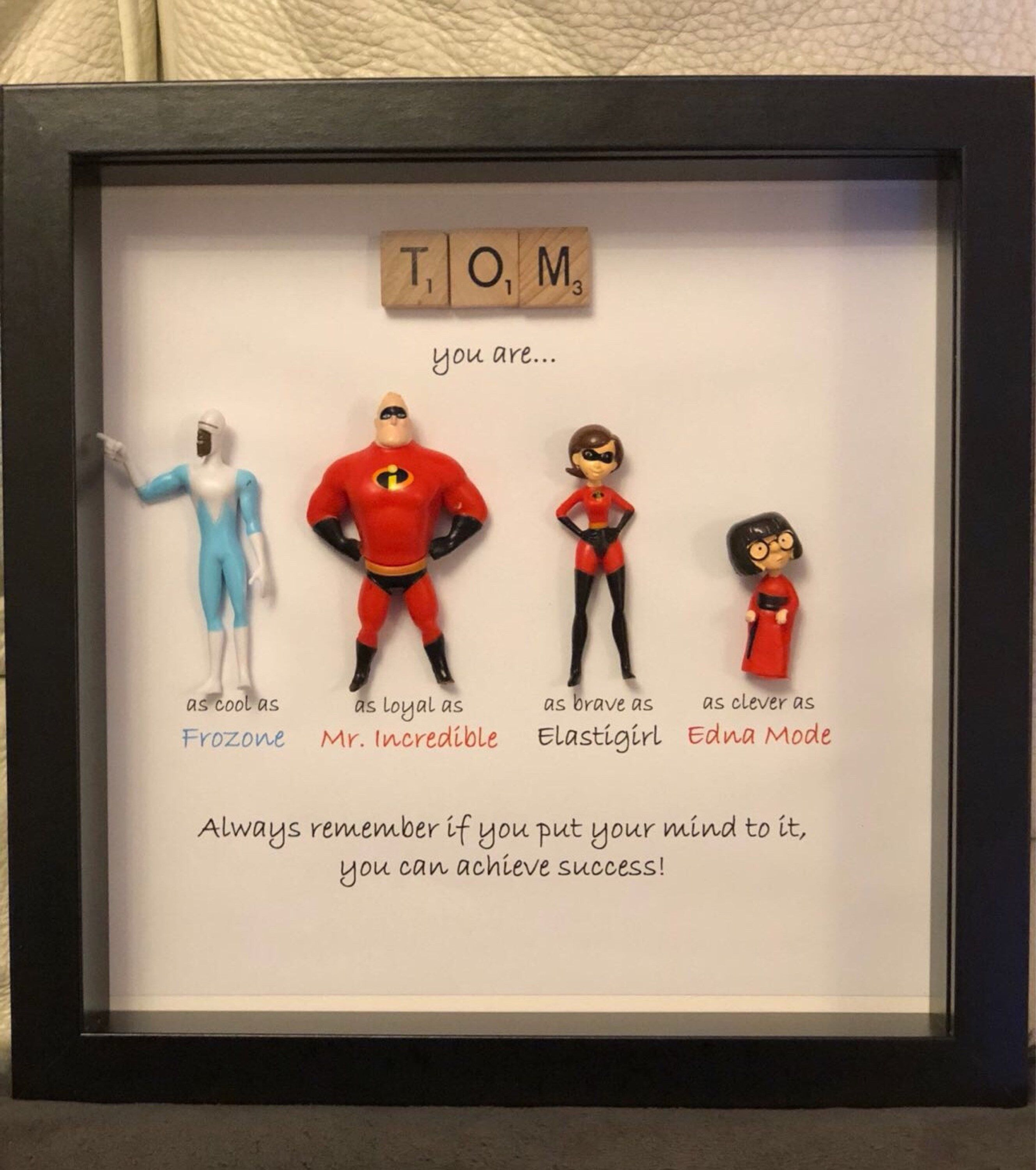 THE INCREDIBLES 2 Personalised Name Print Art High Quality Frame Included